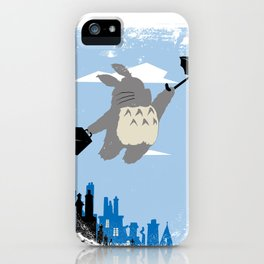 Totoro Poppins iPhone Case