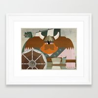 viking Framed Art Prints featuring VIKING by danvinci