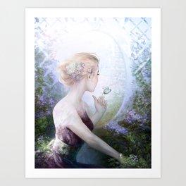 Dream of gentleness - princess in royal garden Art Print