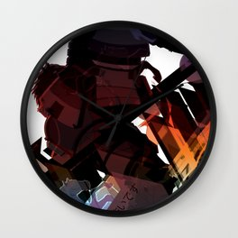 Culture Shock - Samurai Wall Clock