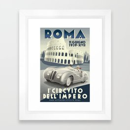 Roma Grand Prix Framed Art Print