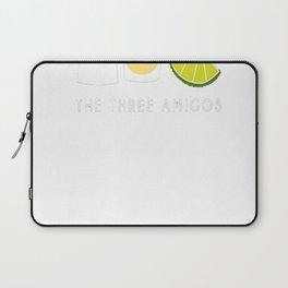 Three Amigos Shirt, Tequila Lime Salt Cinco de Mayo Gift Laptop Sleeve