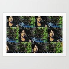 mariposas negras  Art Print