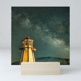 Mountain Light House Mini Art Print