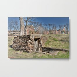 Cherokee Nation - Hendricks Spring, the Site Selected for Seminary Hall, after the first burned, #2 Metal Print