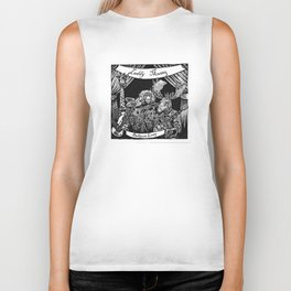 Luddy Mussy/ bull goose looney album cover black and white Biker Tank