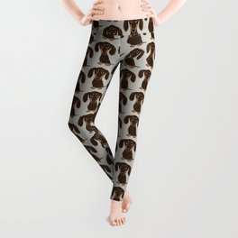 Chocolate Dachshund | Cute Cartoon Wiener Dog Leggings