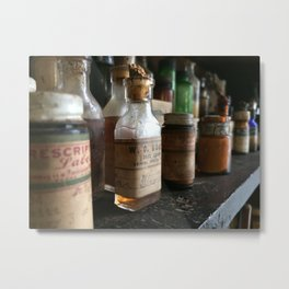 Vintage Prescriptions Metal Print