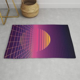 Retro Wave Sunset Pattern | Positivity Rug