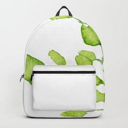 Watercolor green leaves Backpack