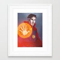 enerjax Framed Art Prints featuring Strange things are happening by enerjax