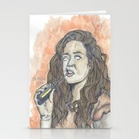 oitnb Stationery Cards featuring Nichols OITNB by Ashley Rowe
