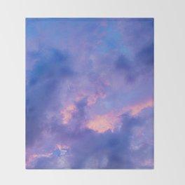 Dusk Clouds Throw Blanket