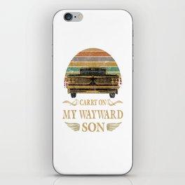 Carry on my Wayward Son  - Vintage Tee Shirt Gift iPhone Skin