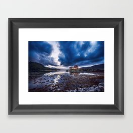 Dark Skies at Eilean Donan Castle Framed Art Print