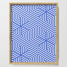 Royal blue (light) - heavenly - Minimal Vector Seamless Pattern Serving Tray