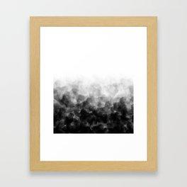 Ombre Smoke Clouds Minimal Framed Art Print