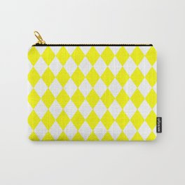 Diamonds (Yellow/White) Carry-All Pouch