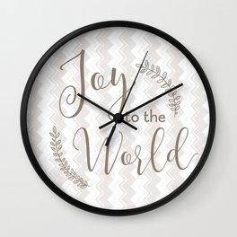 joy to the world - chevrons Wall Clock