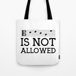 Decaf is not allowed (alto version) Tote Bag