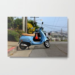 Caution - It's Downhill From Here Metal Print
