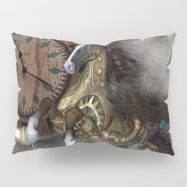 Steampunk, beautiful steampunk horse Pillow Sham