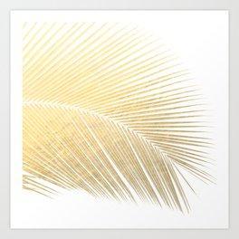 Palm leaf - gold Art Print