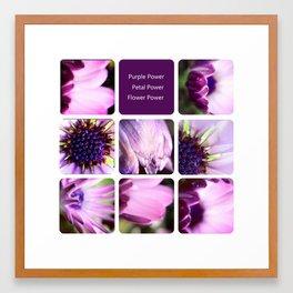 Purple Power Framed Art Print