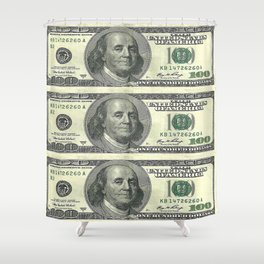 Decorative American Hundred Dollars Art Abstract By Sharles. Shower Curtain