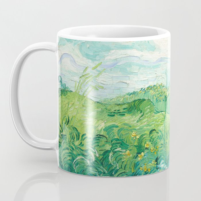 Green Wheat Fields - Auvers, by Vincent van Gogh Coffee Mug