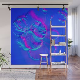 Electric Blue Prima Donna Wall Mural