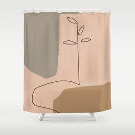 Abstract Composition 18 Shower Curtain