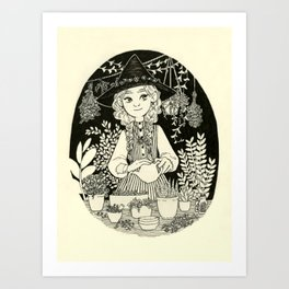 Chamomile witch Art Print