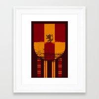 gryffindor Framed Art Prints featuring gryffindor crest by nisimalotse