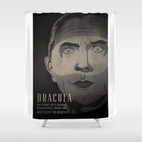 dracula Shower Curtains featuring Dracula  by James Northcote