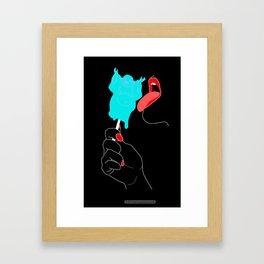Lick that Buddha (black) Framed Art Print