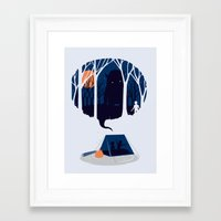 scary Framed Art Prints featuring Scary story by SpazioC