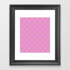 Pastel Broken Diamond Swirl Pattern Framed Art Print