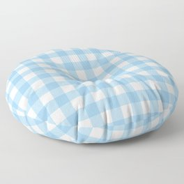 Light Blue & White Gingham Pattern Floor Pillow