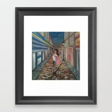 A Kiss in Paris Framed Art Print