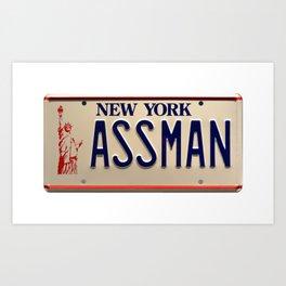 Assman! Cosmo Kramer Tribute Plate Art Print