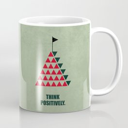Lab No. 4 - Think Positively Corporate Start-up Quotes Coffee Mug