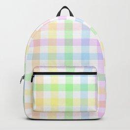 Rainbow Gingham Backpack