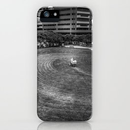Mowing The Lawns In A Circle iPhone Case