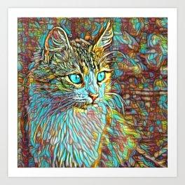 ColorMix Kitten 1 Art Print