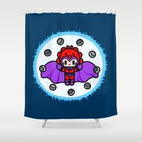 magneto Shower Curtains featuring Magneto QiQi - magnet magnet magnet.... by Ziqi