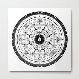 Compass Rose Metal Print