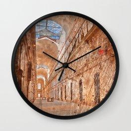 Battered Prison Corridor Wall Clock