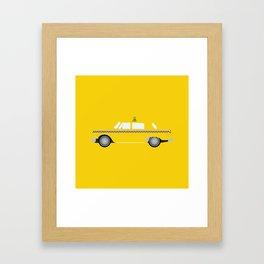 New York Yellow Taxi Framed Art Print