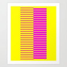 Canary Zebra Plays Piano Art Print